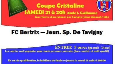 la Jeunesse Sportive de Tavigny accepte de jouer le samedi soir, merci au comité et au staf sportif